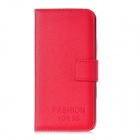 Fashion Flip-Up Open Design Protective PU Leather Case for Iphone 5 - Red