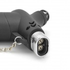 1300'C Windproof Adjustable Dual Flame Butane Jet Torch Lighter with Mount Base - Black
