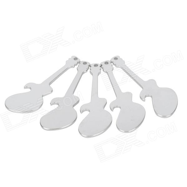 20217 Guitar Shaped Bottle Openers - Silver (5PCS)