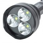RUSTU R23S 2600lm 5-Mode Memory White Flashlight - Black (2 x 18650)
