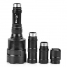 RUSTU R30 2400lm 5-Mode White Flashlight - Black (3 x 18650)