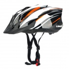 LIMAR 525 Cycling Road PC + EPS Helmet w/ Insert Net + Dial Anti-Clockwise - Black + White + Orange
