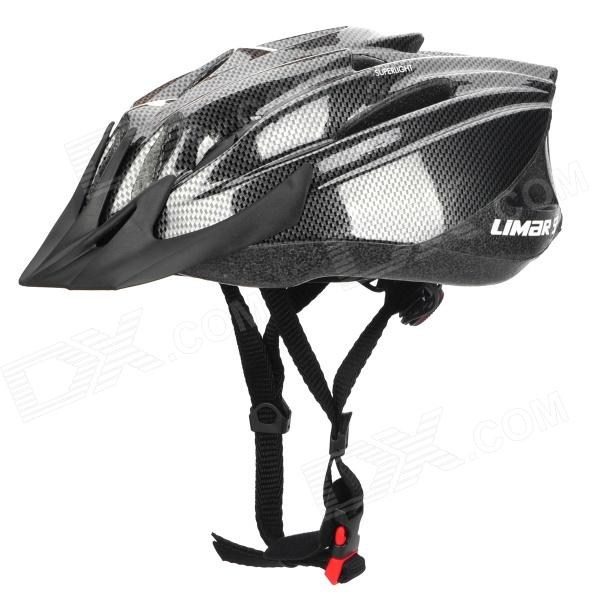 LIMAR 525 Cycling Road Bike PC + EPS Helmet w/ Insect Net + Dial Anti-Clockwise - Black