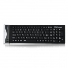 Water Resistant USB 2.0 Flexible Silicone 104-Key Keyboard - Black