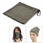 Multi-Functional Fleeces Neck Warmer Mask Scarf - Oliver Green
