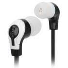 GEXIN GX-97 Stylish Flat In-Ear Earphones - Black + White (3.5mm Plug / 107cm)
