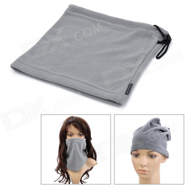 Multi-Functional Fleeces Neck Warmer Mask Scarf - Grey