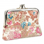 Chinese Style Mini Woman's Canvas Wallet Case - Multicolored