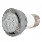 E27 5W 380lm 7000K Weiß Cree XP-E 4-LED Light Bulb - Grey + Silver + White (110 ~ 220V)