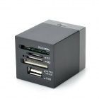 COMBO HALLO-Speed ​​3-USB-2.0-Port HUB SD / MMC / TF / M2 / MS Pro / MS Duo Card Reader - Black (32GB)