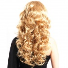 Finding Color FCWG038 Fashionable Lady's Diagonal Bangs Long Curly Hair Wig - Golden