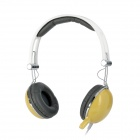Cosonic CT-668 Stereo Headset Kopfhörer w / Mic + Volume Control - Yellow (3,5 mm-Stecker / 200cm-Kabel)