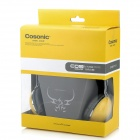 COSONIC CT-668 Stereo Headset Headphones w/ Mic + Volume Control - Yellow (3.5mm-Plug / 200cm-Cable)