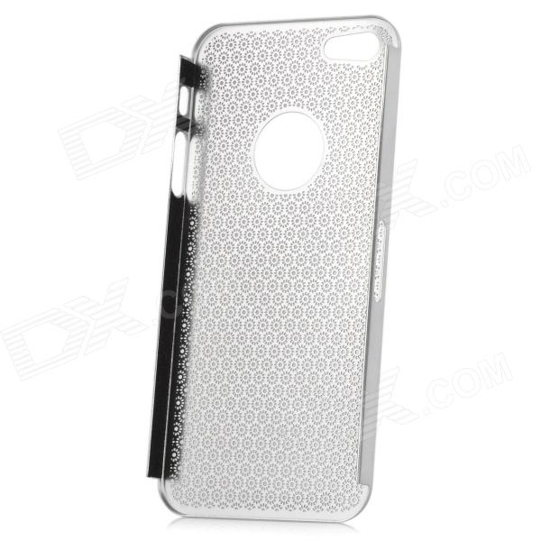Protective Stainless Steel Sunflower Mesh Case for Iphone 5 - Silver