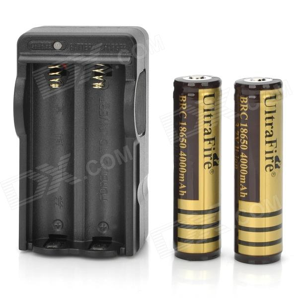 "US Plugs UltraFire 18650 Battery Charger w/ 2*""4000""mAh 18650 Battery"