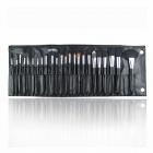 Finding Color FC24001 24-in1 Elegant Cosmetic Makeup Brush Set - Black