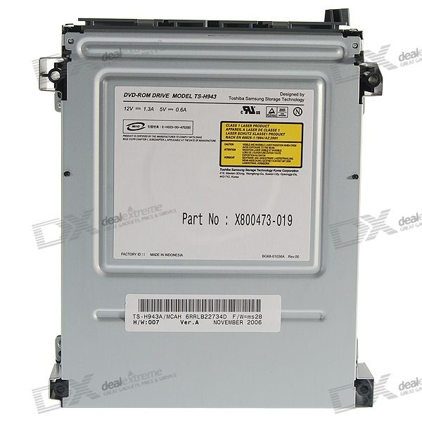 Replacement Samsung TS-H943 DVD-ROM Drive for Xbox 360