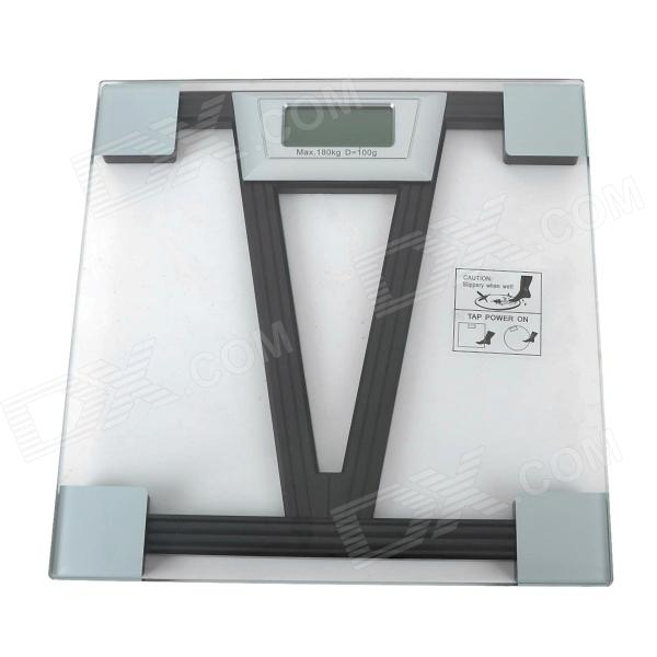 V Pattern ABS Plastic 2.4 LCD Digital Scale - Black (2 x AAA) 1 8 lcd portable jewelry digital pocket scale 500g 0 1g 2 x aaa
