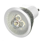 GU10 3W 3000K 280lm 3-LED Warm White Light Bulb - Silver (AC 85~250V)
