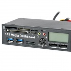 "CH-528U3L PCI-E a USB 3.0 5.25 ""CD-ROM del ordenador Duro Media Dashboard - Negro"