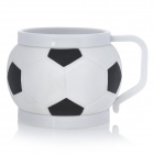 3001 Fashionable Association Football Style Plastic Cup - Black + White (200mL)