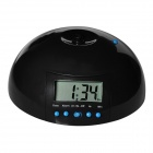 Creative Flying Lazy Alarm Clock w/ Propeller - Black + Blue (5 x AA)