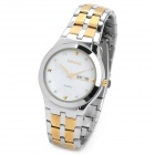 Weiqin WQ0051 Man's Stainless Steel Quartz Analog Waterproof Wrist Watch w/ Calendar - Silver + More