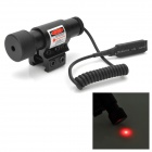 5mW Aluminum Alloy Red Dot Laser Scope w/ 12~20mm Rail Mount / Dual Switches - Black (2 x AG13)