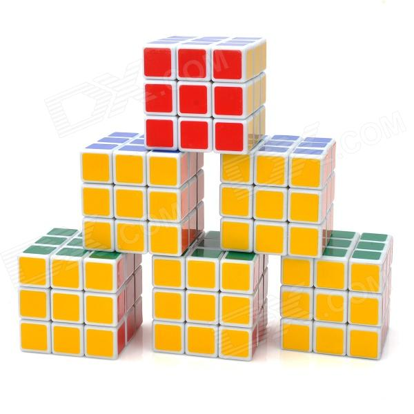 8061 3x3x3 Brain Teaser Magic IQ Cube - Multicolored (6 PCS) mini 3x3x3 brain teaser magic iq cube keychain