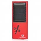 Solar Powered MP3 Music Player with FM / TF / USB / LED Indicator - Red + Black