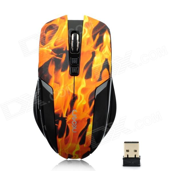 LingDu L528 Flame Grain 1600dpi Wireless Optical Gaming Mouse (2 x AAA) lingdu d9200 cool 2 4ghz wireless keyboard with mouse set black 1 x aa