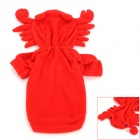 Crab Style Cotton + Polyester Pet Dog Apparel Clothes - Red (Size S)