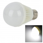 E27 5W 400lm 6000~6500K SMD2835 White Light LED Bulb - (AC100~240V)
