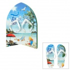 Walk-on Summer Beach Design Creative 2-in-1 EVA Surfboard with Beach Slippers Set