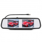 RV-436 4.3' TFT LCD Dual Display Car Vehicle Rearview Mirror Monitor - Black