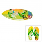 Walk-on Creative 2-in-1 EVA Surfboard with Beach Slippers Set