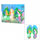 Walk-on Mermaid Design Creative 2-in-1 EVA Surfboard with Beach Slippers Set
