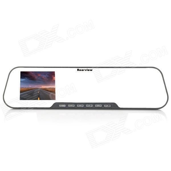 "2.7"" TFT LCD 1.3MP CMOS Car Rearview Mirror DVR Camcorder with TF / AV-Out / TV-Out / 4-LED IR Light"