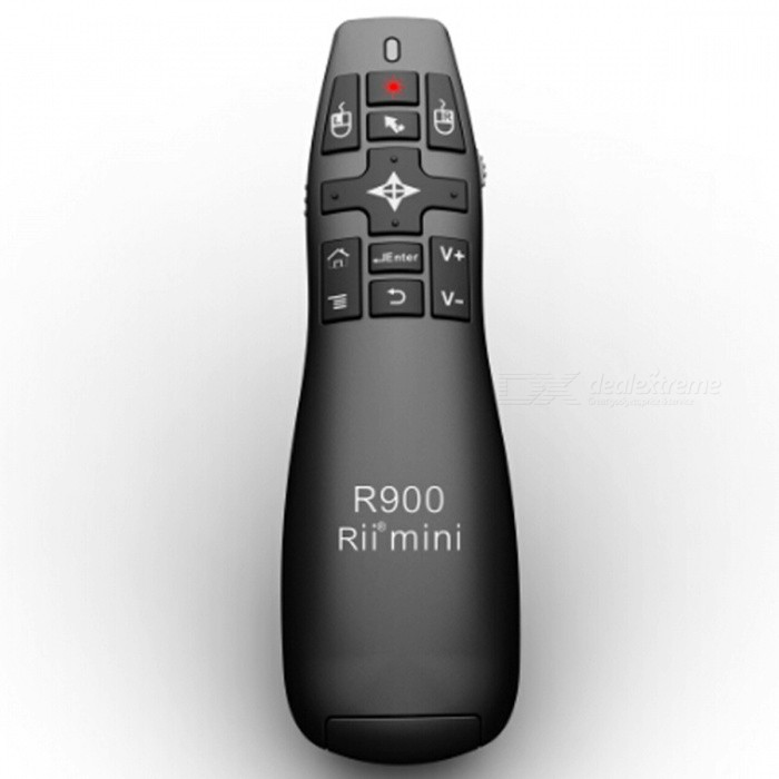 Rii MINI R900 2.4GHz Wireless Air Mouse Presenter for MK802 II / Tablet PC / Android Player - Black брус 150 50 цена