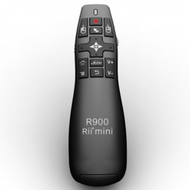 Rii RT-MWK14 2.4GHz Wireless Air Mouse Presenter for Tablet PC - Black