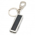 iwoo iwoo-026 Multi-Functional Leather Keychain w/ Tools - Silver + Black