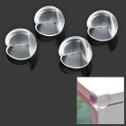 Ball Style 4-in-1 PVC Anti Collision Angle Guard Set for Kids - Translucent + Red