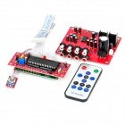 "LC75342 2.6"" Screen Adjustable 4-Channel Audio Input Motherboard w/ CPU / Remote Controller - Red"