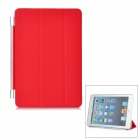 Folding Protective Plastic Smart Cover for iPad Mini - Red