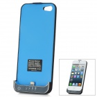 External 2200mAh Emergency Power Battery Back Case for iPhone 5 - Black + Blue
