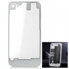 Clear Plastic Battery Back Cover for iPhone 4S - White