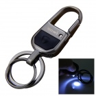 iwoo iwoo-057 Man's Dual-Ring Zinc Alloy Keychain w/ LED Light - Black
