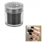 BK BK-10 Flocking Velvet Manicure Art Polish Nail Powder - Black