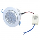 7W 3500K 600lm 7-LED Warm White Light Ceiling Lamp w/ Driver - Silver (AC 89~265V)