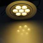 7W 3500K 600lm 7-LED Warm White Light Ceiling Lamp w/ Driver - Silver